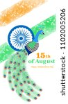 happy independence day india on ... | Shutterstock .eps vector #1102005206