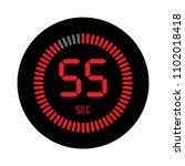 the 55 seconds  stopwatch... | Shutterstock .eps vector #1102018418