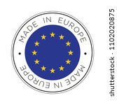 made in europe flag icon. | Shutterstock .eps vector #1102020875