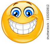 emoticon with big toothy smile | Shutterstock .eps vector #110202812