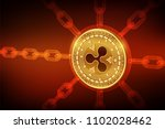 ripple. crypto currency. block... | Shutterstock .eps vector #1102028462
