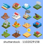 natural disaster isometric... | Shutterstock .eps vector #1102029158