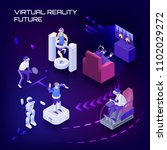 virtual reality future... | Shutterstock .eps vector #1102029272