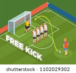 football soccer isometric... | Shutterstock .eps vector #1102029302