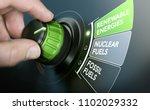 man turning an energy... | Shutterstock . vector #1102029332