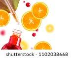 citrus essential oil  vitamin c ... | Shutterstock . vector #1102038668