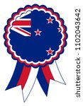 new zealand award ribbon vector ... | Shutterstock .eps vector #1102043642