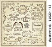 set of design elements  labels  ... | Shutterstock .eps vector #110204465
