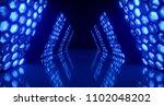 bright futuristic long sci fi... | Shutterstock . vector #1102048202
