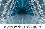 bright futuristic long sci fi... | Shutterstock . vector #1102048205