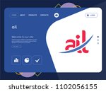 quality one page ail website... | Shutterstock .eps vector #1102056155