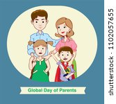 global day of parents with... | Shutterstock .eps vector #1102057655