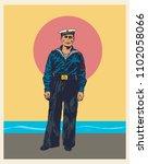 soviet military sailor in the... | Shutterstock .eps vector #1102058066