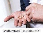 Groom Holds The Wedding Rings...