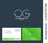 letters o   g joint logo icon... | Shutterstock .eps vector #1102070768