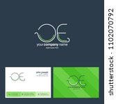 letters o   e joint logo icon... | Shutterstock .eps vector #1102070792