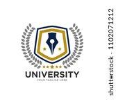shiend and pen logo template... | Shutterstock .eps vector #1102071212