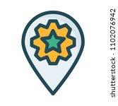 pin setting map    Shutterstock .eps vector #1102076942