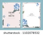 botanical wedding invitation... | Shutterstock .eps vector #1102078532
