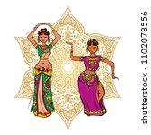 woman dancer in national indian ...   Shutterstock .eps vector #1102078556