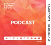 podcast   icon for web and... | Shutterstock .eps vector #1102080998