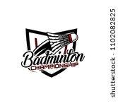badminton team design logo...   Shutterstock .eps vector #1102082825