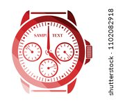 watches icon. flat color design....