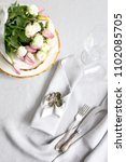 beautiful table setting for... | Shutterstock . vector #1102085705