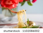 traditional italian pasta with... | Shutterstock . vector #1102086002