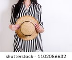fashion. young woman in...   Shutterstock . vector #1102086632