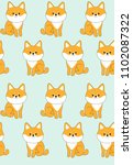 vector pattern with cute dog.... | Shutterstock .eps vector #1102087322