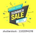 summer sale banner template in...   Shutterstock .eps vector #1102094198