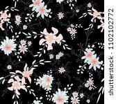 little floral seamless pattern... | Shutterstock .eps vector #1102102772