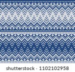 winter sweater fairisle design. ... | Shutterstock .eps vector #1102102958