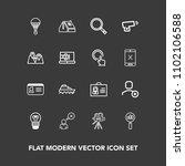 modern  simple vector icon set... | Shutterstock .eps vector #1102106588