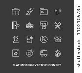 modern  simple vector icon set... | Shutterstock .eps vector #1102106735