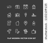 modern  simple vector icon set...   Shutterstock .eps vector #1102109135