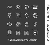 modern  simple vector icon set... | Shutterstock .eps vector #1102109888