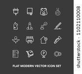 modern  simple vector icon set...   Shutterstock .eps vector #1102110008