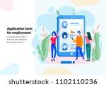 vector illustration. for web... | Shutterstock .eps vector #1102110236