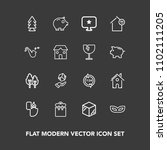 modern  simple vector icon set...   Shutterstock .eps vector #1102111205