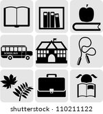 school and education icons | Shutterstock .eps vector #110211122