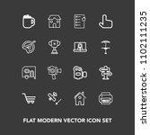 modern  simple vector icon set...   Shutterstock .eps vector #1102111235