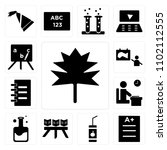set of 13 icons such as autumn  ...