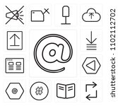 set of 13 icons such as at ...