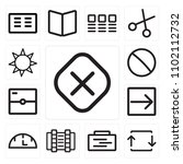 set of 13 icons such as cancel  ...