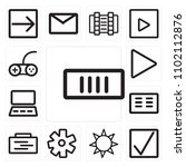 set of 13 icons such as battery ...