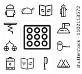 set of 13 icons such as ice...