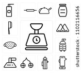 set of 13 icons such as scale ...