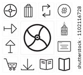 set of 13 icons such as chrome  ...